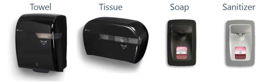 Towel, Tissue, Soap and Sanitizer Dispensers