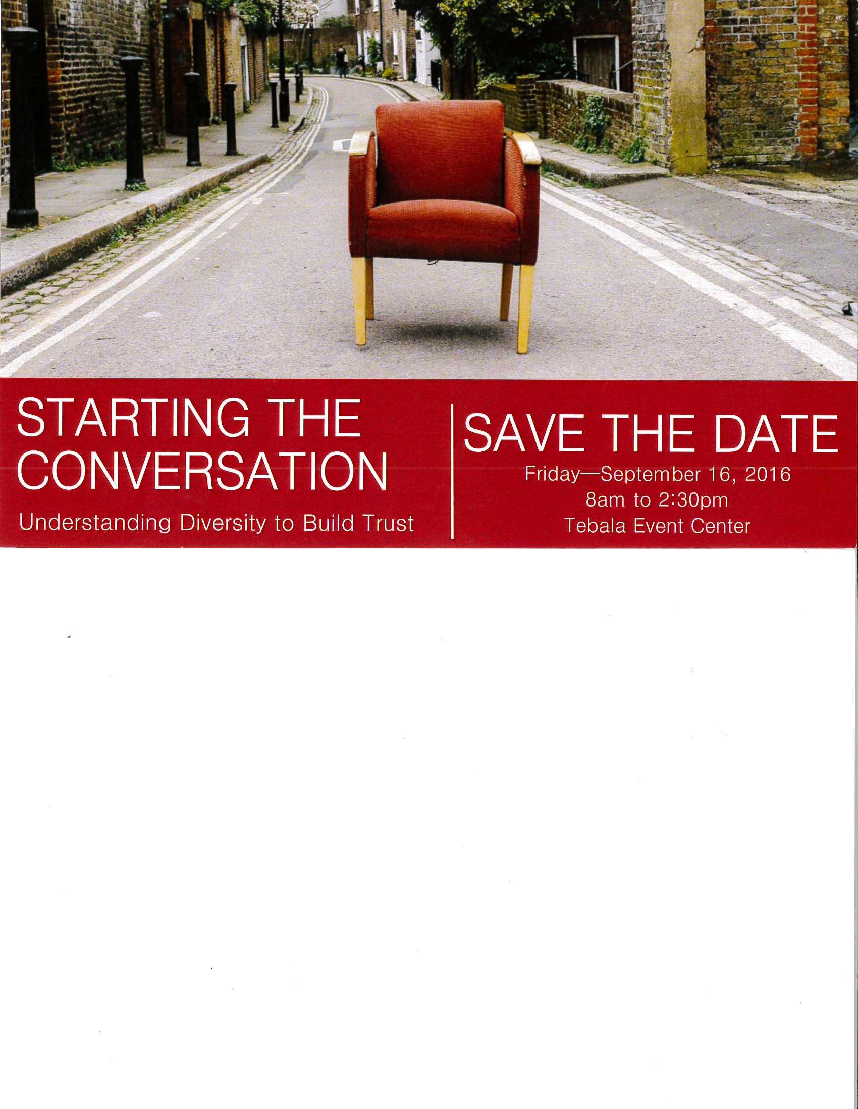 Starting the Conversation; Understanding Diversity to Build Trust