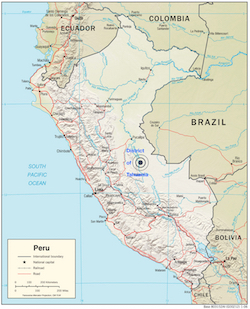 Map-of-Peru-with-Tahuania-District