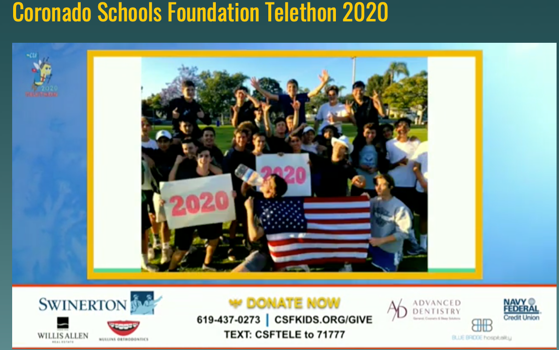 CSF Telethon Deemed a Success as Coronado Generosity Shines Even During the Most Challenging Times