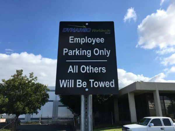 Parking Signs for Property Management Companies in Orange County CA