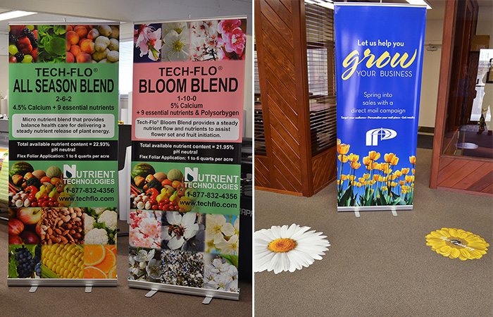 Retractable Banners & Floor Graphics