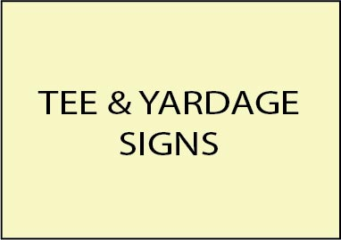 E14300 - Tee and Yardage Signs