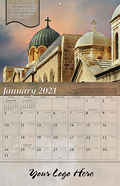 CHRISTIAN REFLECTIONS 13-MONTH CALENDAR