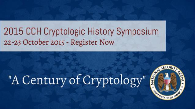 CCH 2015 Cryptologic History Symposium