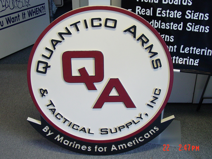 Quantico Arms Storefront Sign