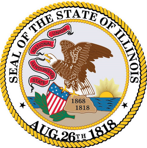 W32180 - Great Seal of Illinois Wall Plaque