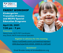 Kindergarten Transition Process and MCPS Special Education Programs