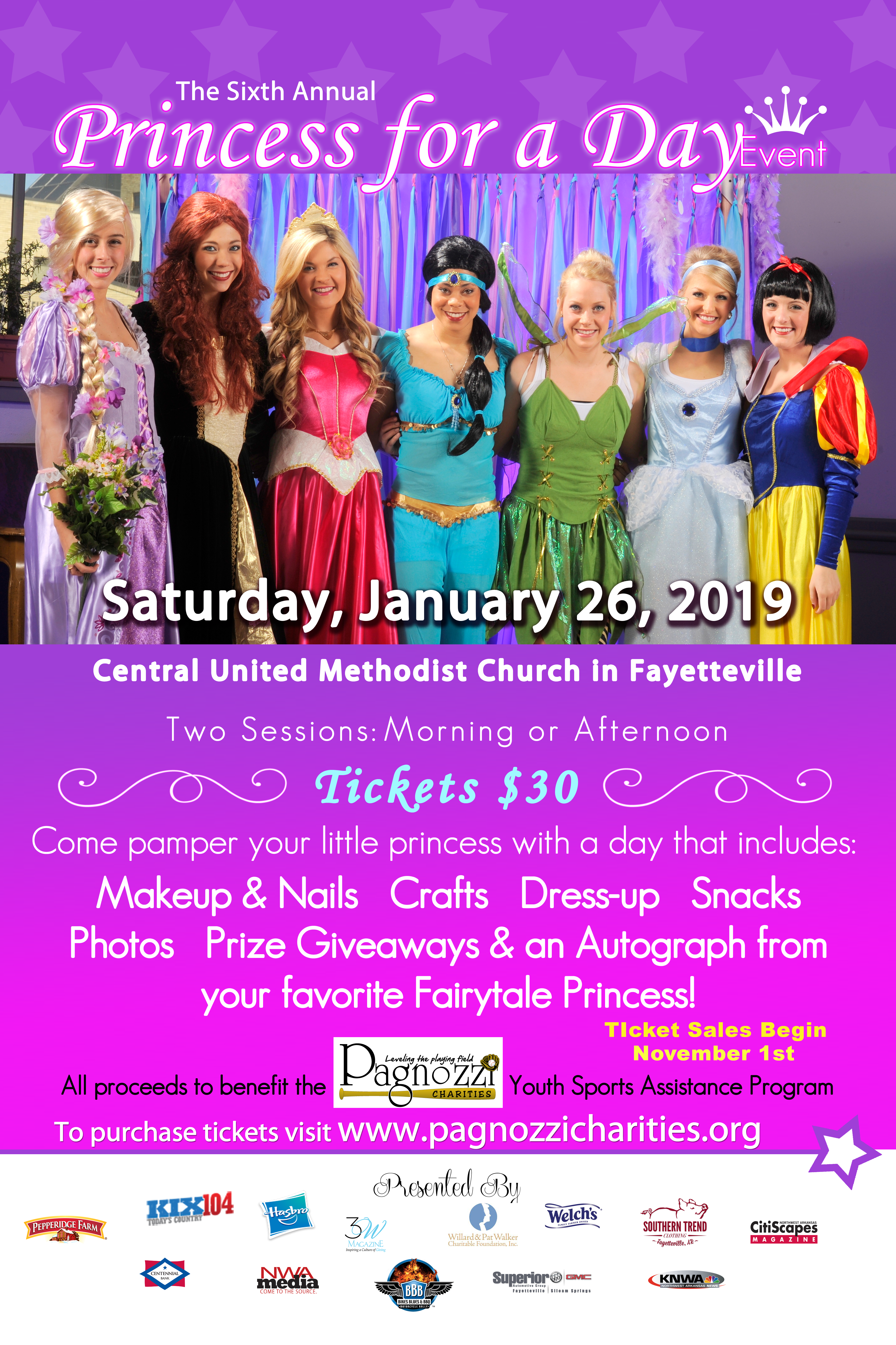 Register starting November 1st for the 6th Annual Princess for a Day Event