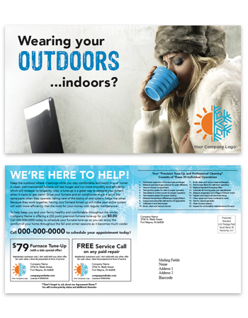 Customized Postcard Campaign Targeted Marketing HVAC
