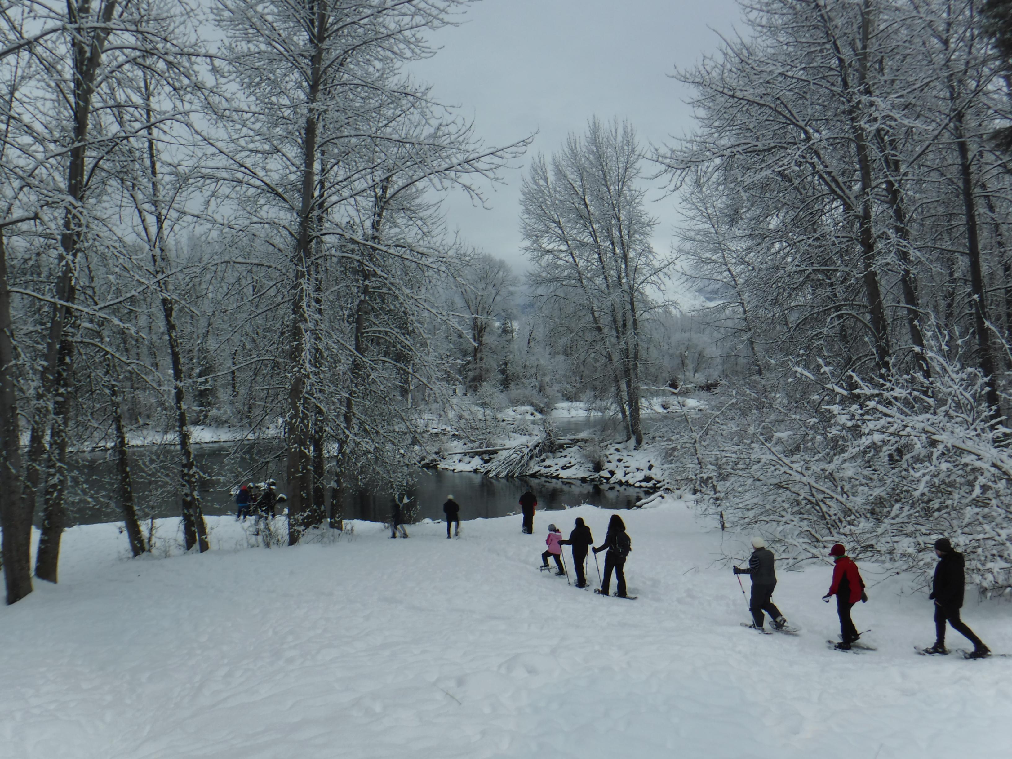 Snowshoe Stroll at WRI!