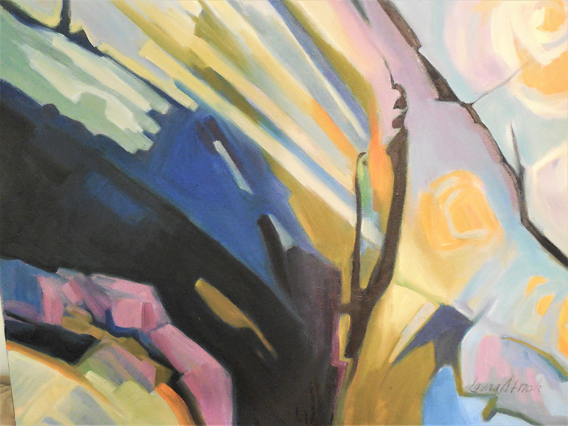 Laura Stroh, abstract painting in oils instructor