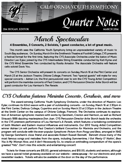 March 2014 Quarter Notes