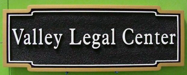 A10175 - Legal Center Outdoor HDU Wall Sign
