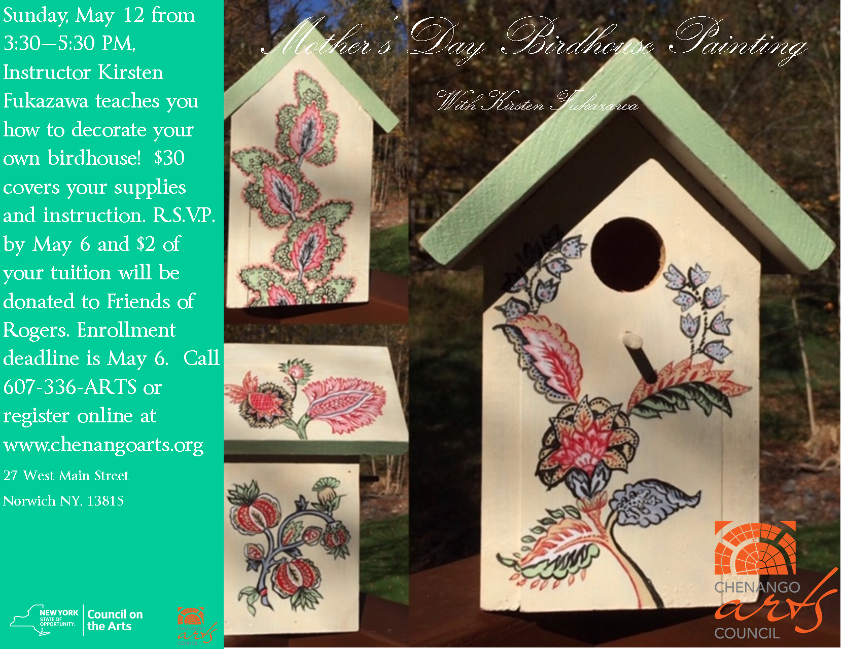 Mother's Day Birdhouse Painting With Kirsten Fukazawa