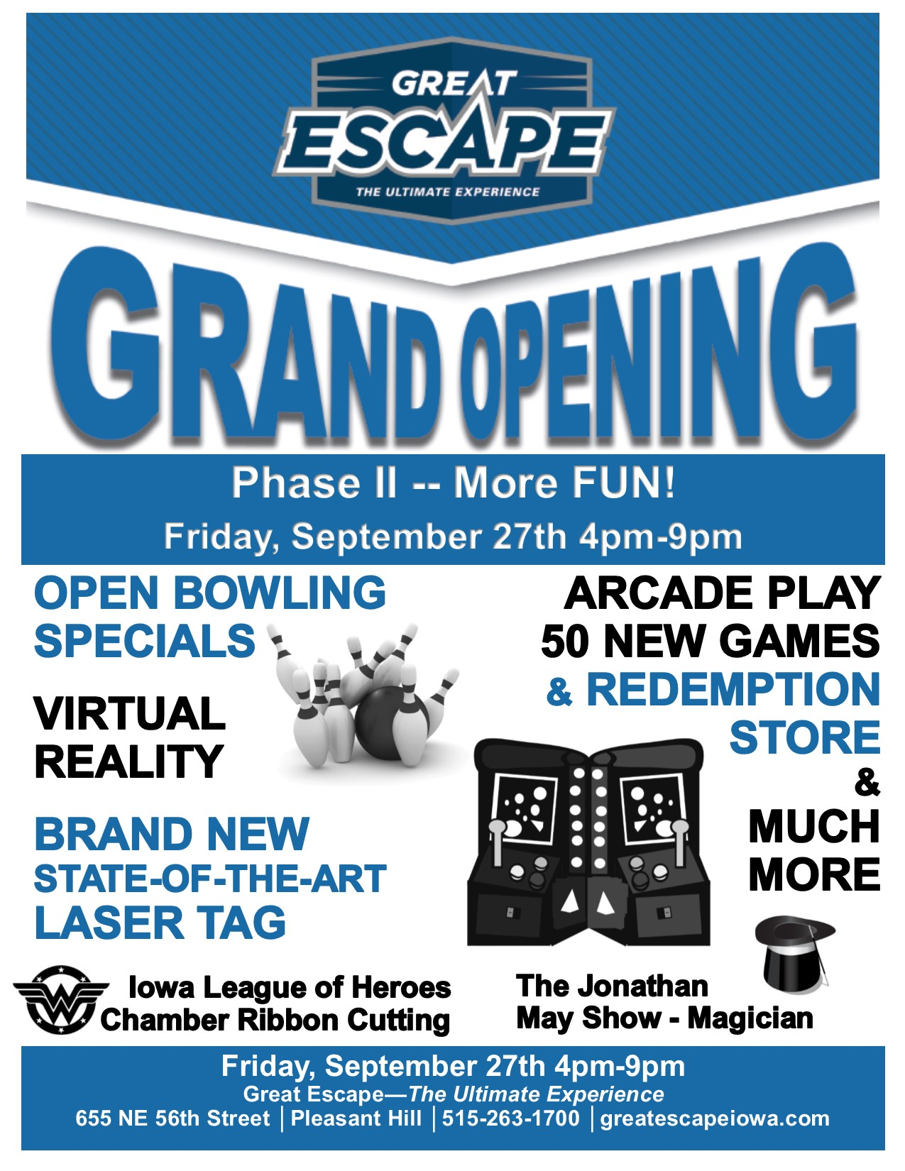 Ribbon Cutting/Grand Opening- Great Escape