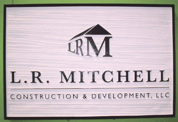 SA28663 - Sign for Construction and Development Company with Building Logo as Artwork