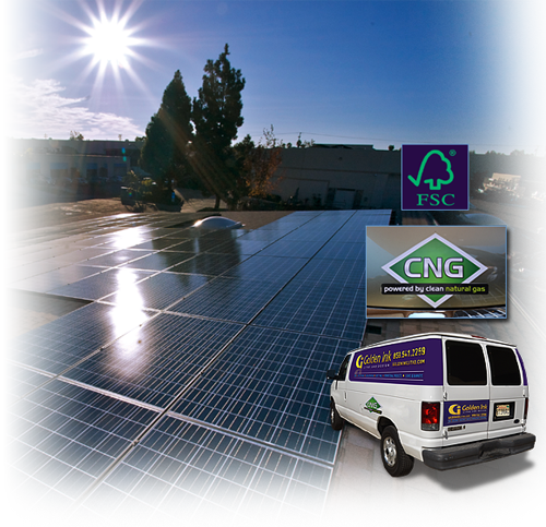 Green Printer | Solar Power Plant | Zero Emission Vehicles | Soy Ink Printing