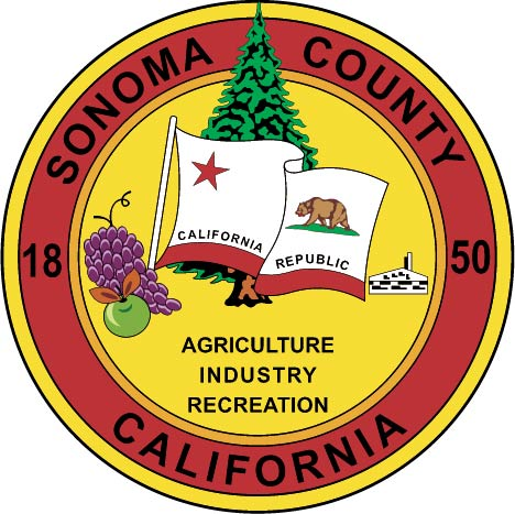 CP-1680 - Carved Plaque of the Seal of Sonoma County,California,  Artist Painted