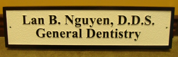 BA11650 – General Dentistry Nameplate Plaque or Sign for Door or Desk