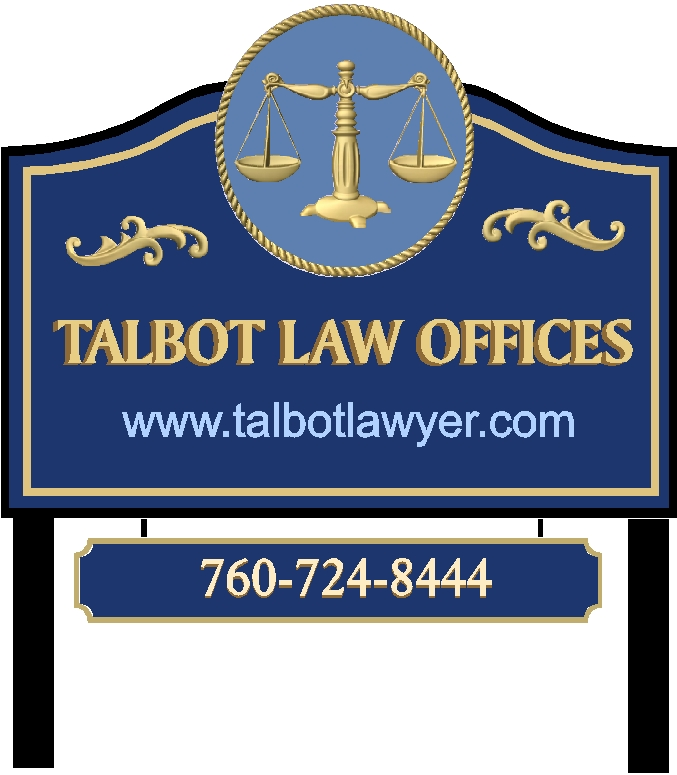 A10101 - Carved 3D Attorney Sign with Gold Leaf