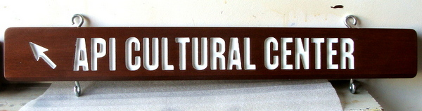 F15333- Carved, Engraved Mahogany Directional  Sign for Agricultural Center