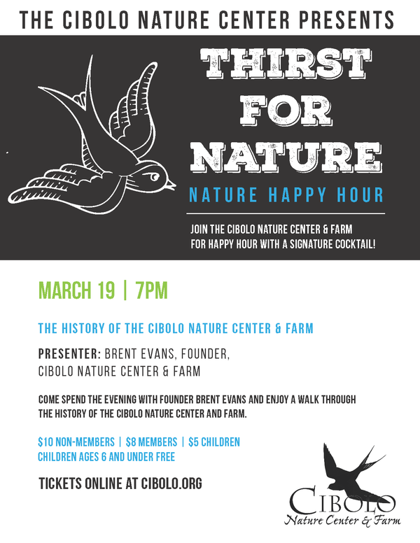 CANCELLED: a Thirst for Nature event: History of Cibolo Nature Center