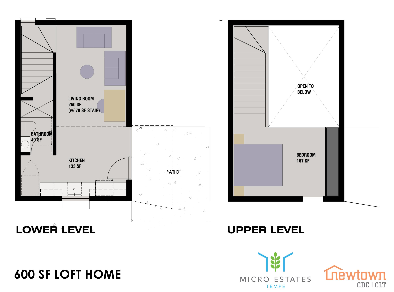 Plano de planta para la casa típica