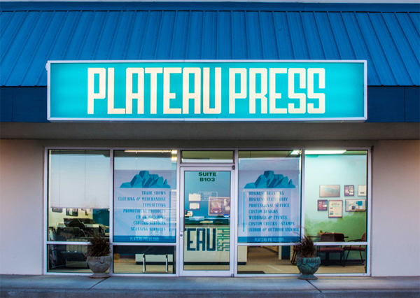 Welcome to Plateau Press Specialty Printing and Design