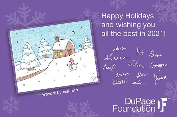 A Note About DuPage Foundation's 2020 Holiday Card
