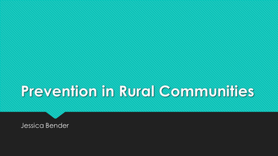 Prevention in Rural Communities