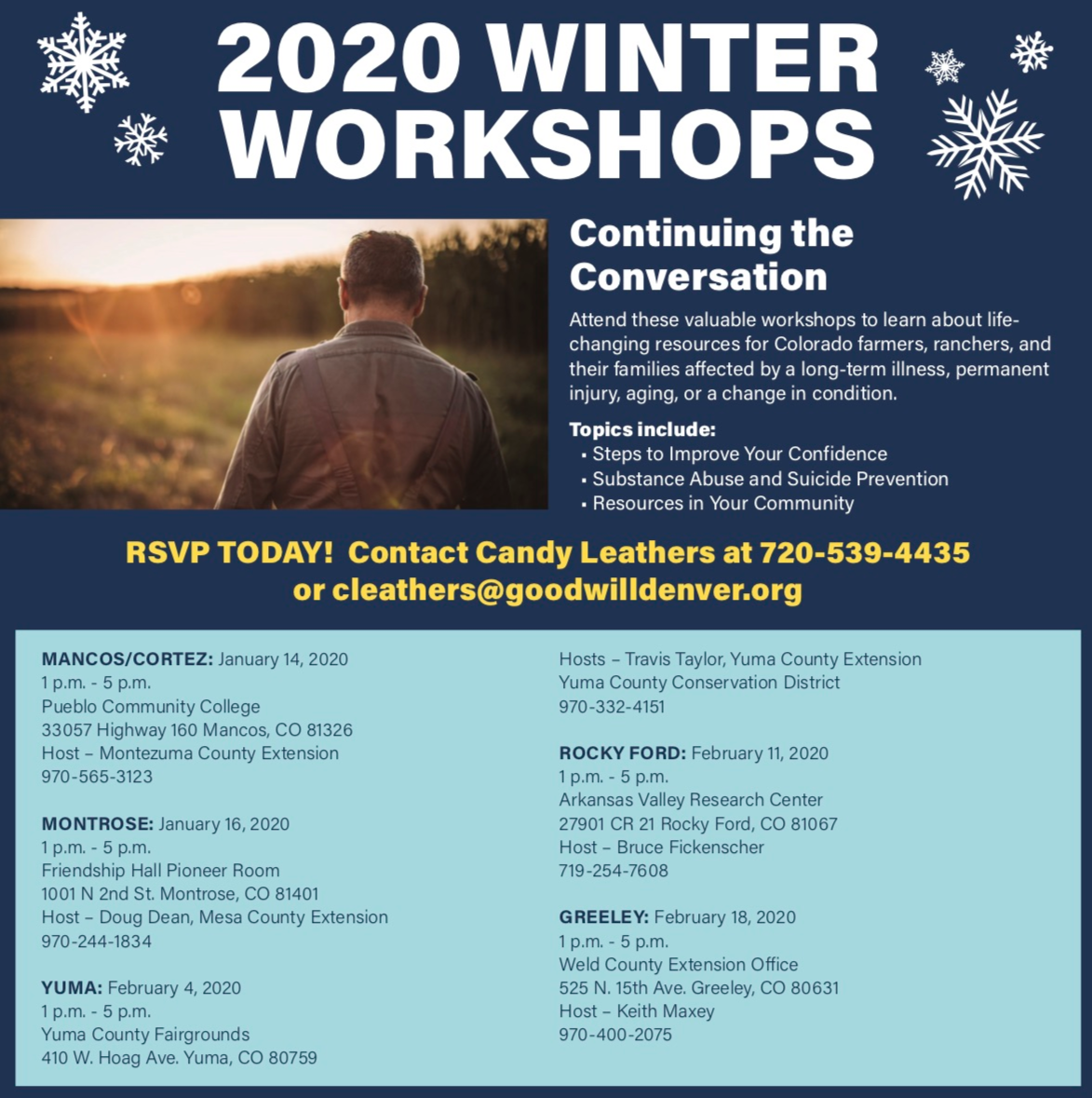 2020 Winter Workshops Poster