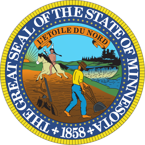 W32280 - Great Seal of Minnesota Wall Plaque