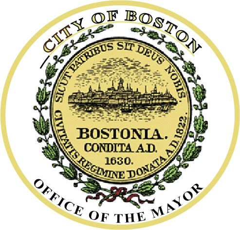 DP-1140 -  Plaque of the Seal of the City of Boston, Massachusetts, Giclee