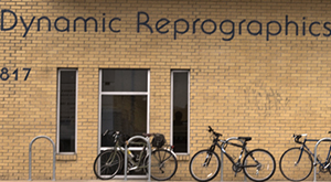 Dynamic Reprographics front building at 12th street location