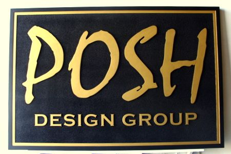 SA28304 - High-End Carved HDU Sign for Posh Design Group