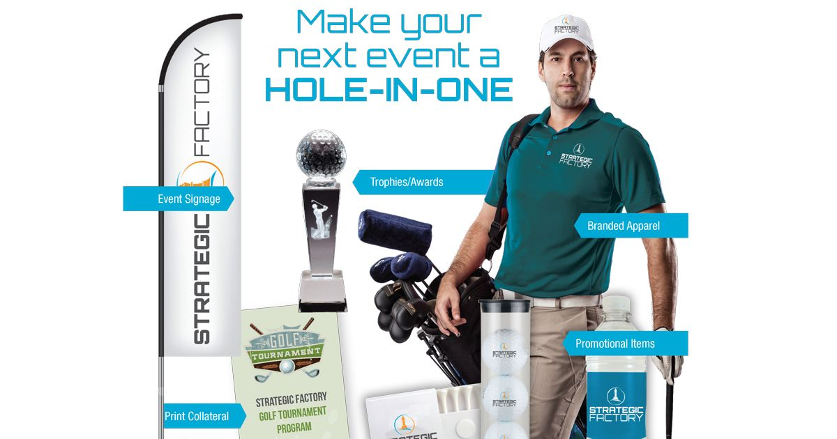 Planning a Golf Tournament? See all the items we can provide to make your event a success!