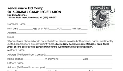 CLICK HERE to download the Renaissance Kids Camp registration form >>