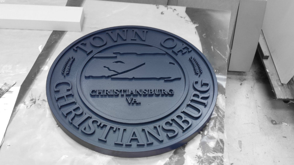 Town Seal Painted