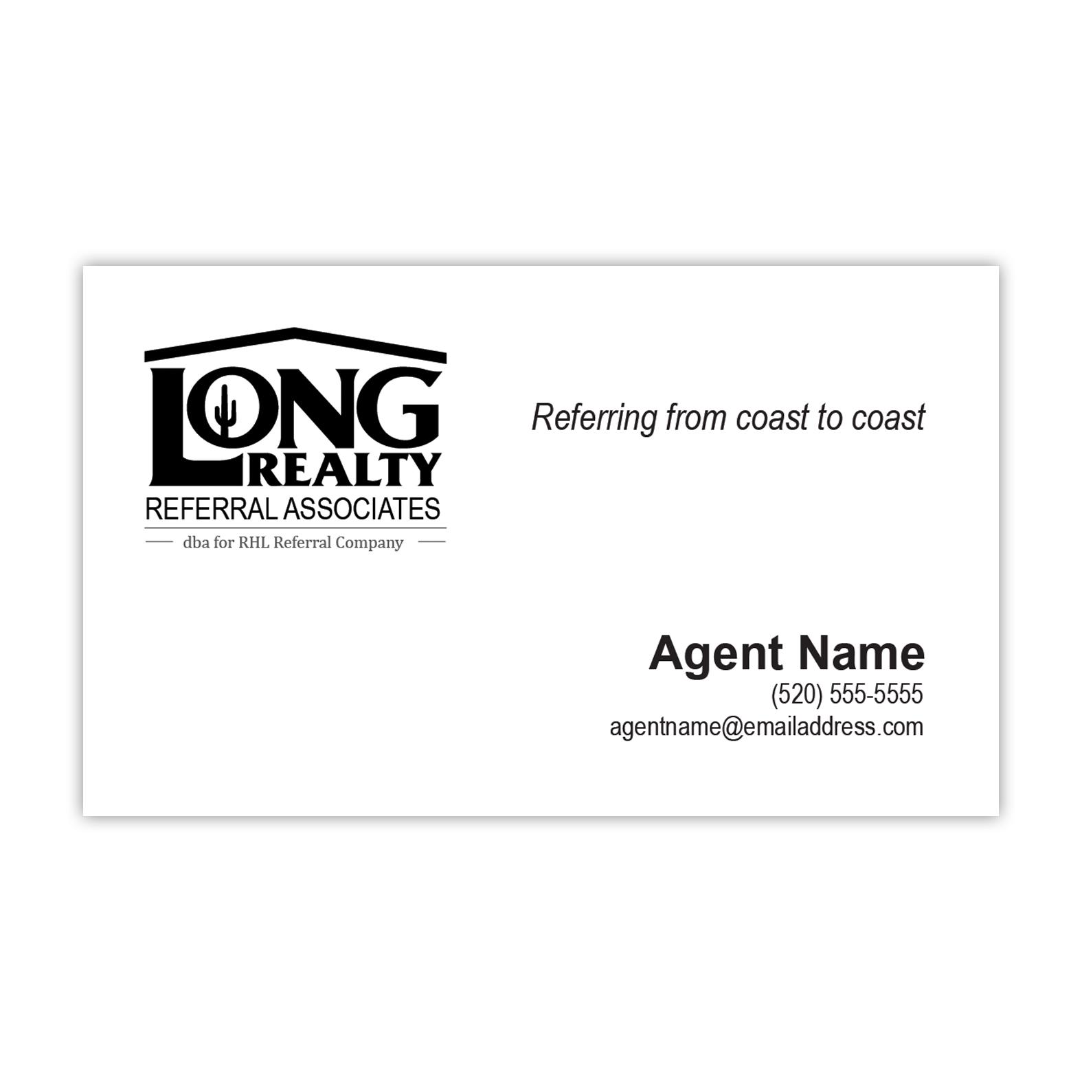 Long Realty Referral Cards Menu