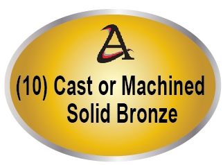 M7521 - (10) Cast (3D) or Machined (2.5-D)  Solid Bronze
