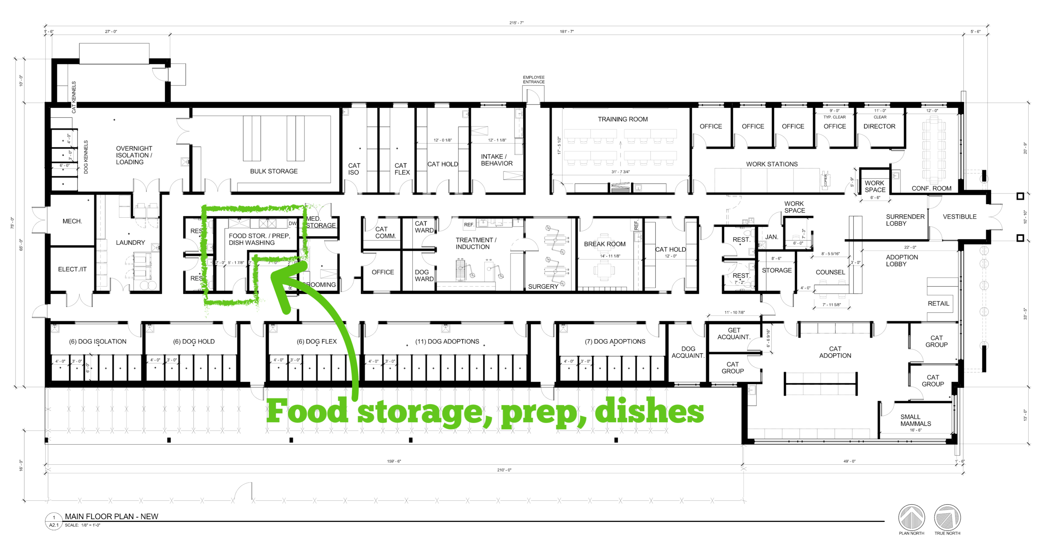 Food storage, prep, dishes