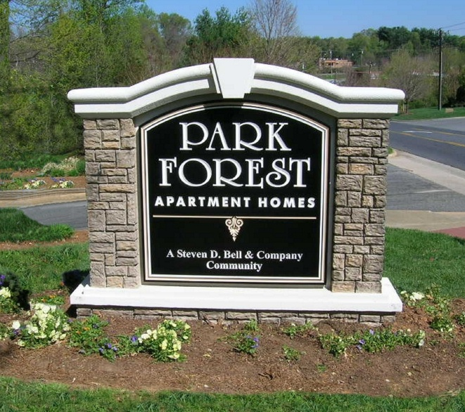 K20054 - EPS Monument Sign for Apartment Homes, Faux Stone Sign Pillars