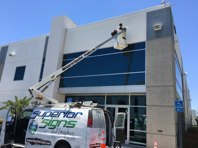 New Building Sign Installations in Orange County CA