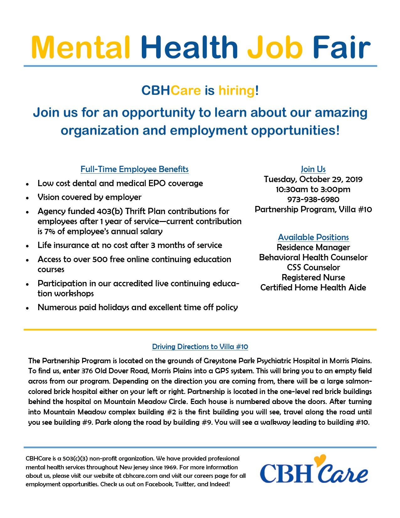 CBH Care Job Fair