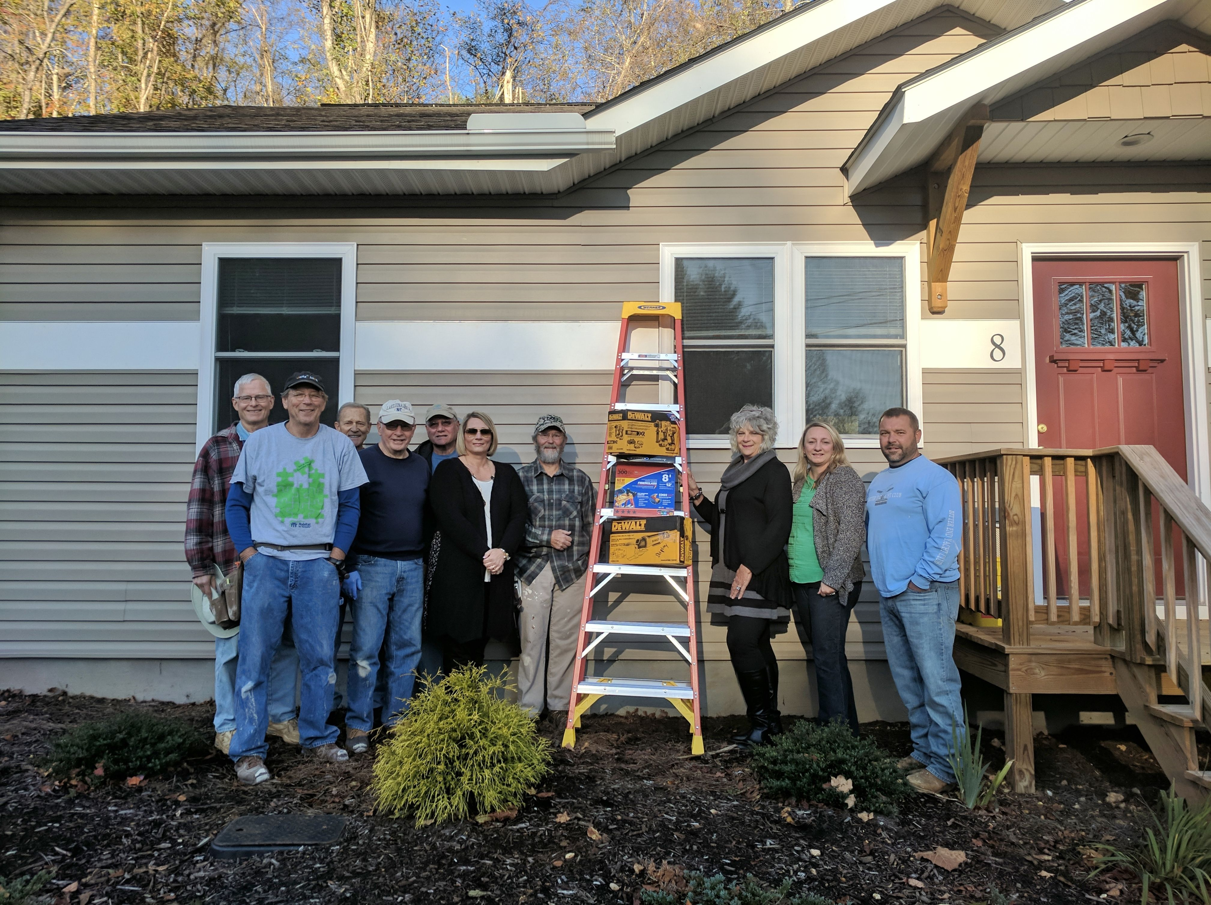 Family donates new construction equipment