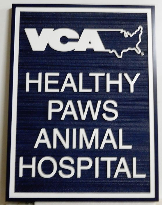 BB11724 - Healthy Paws Animal Hospital Carved Sign