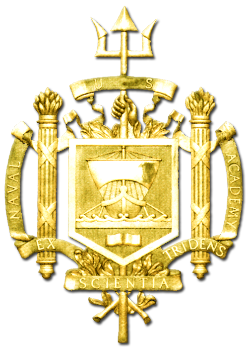 ME5200- Insignia / Crest  of US Naval Academy at Annapolis, 3-D