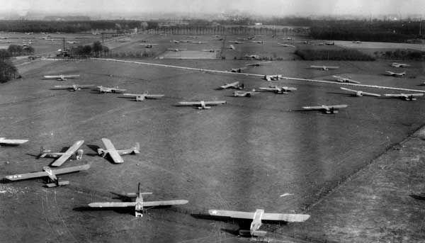 Glider Landing Zone, Operation Varsity, Germany, March, 1945