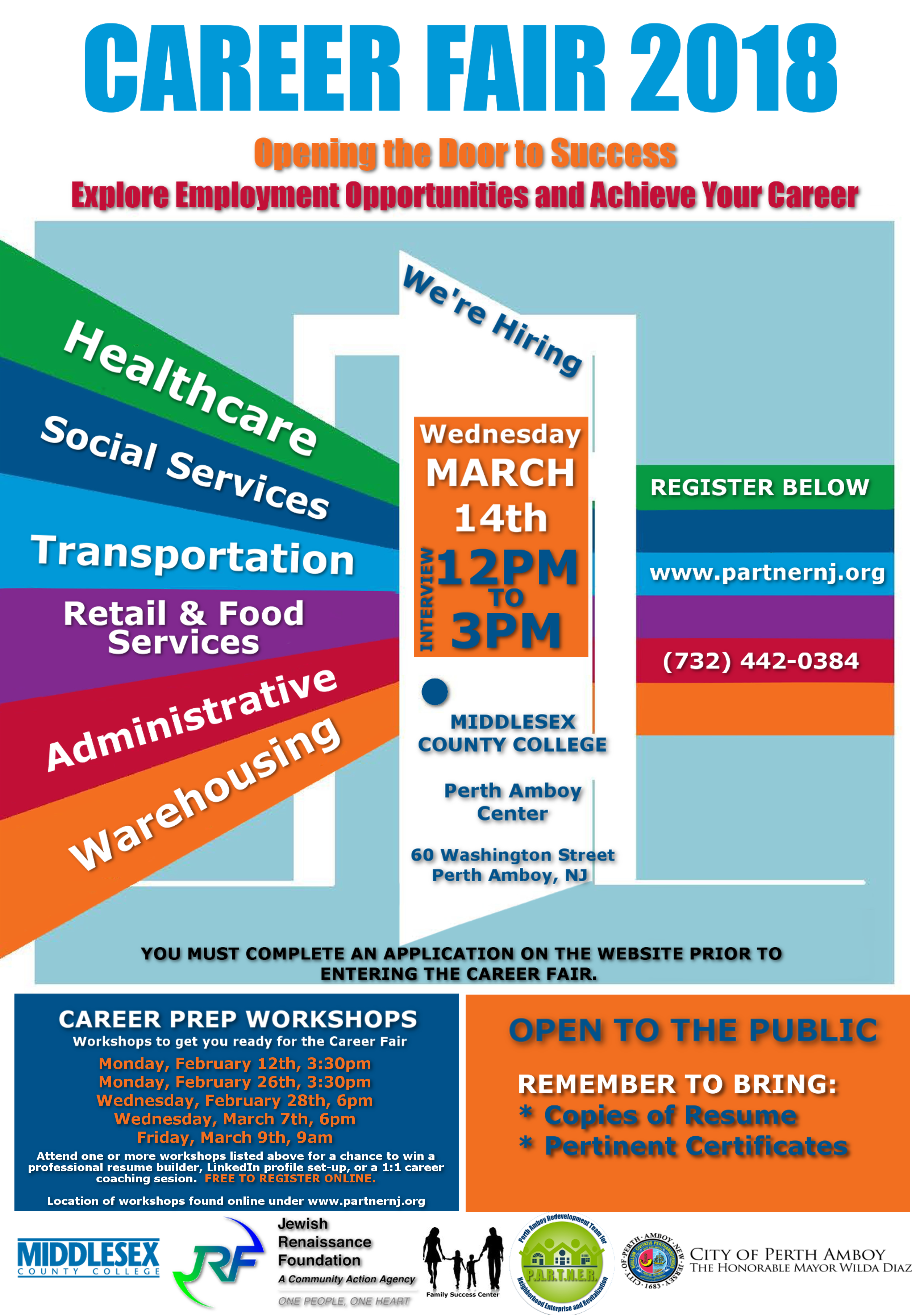 Jewish renaissance foundation what you can do event calendar 2018 career fair opening the door to success reheart Image collections